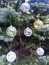 Dekorácie - vianočná ozdoba - sada - 11096093_