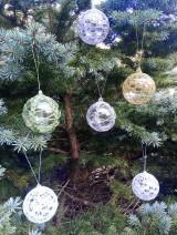 Dekorácie - vianočná ozdoba - sada - 11096287_