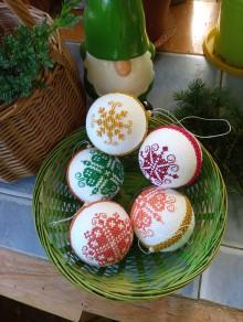 Dekorácie - vianočná ozdoba - sada - 11096033_