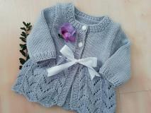 Detské oblečenie - SVETRÍK PRE MIMINKO - fialový - 11095261_