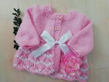 Detské oblečenie - SVETRÍK PRE MIMINKO - ružový - 11095289_