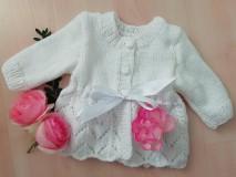 Detské oblečenie - SVETRÍK PRE MIMINKO - biely - 11095313_