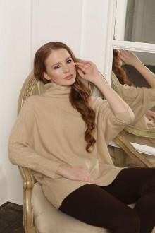 Svetre/Pulóvre - Béžový sveter so vzorom - 100% kašmír - 11097536_