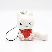 Kľúčenky - Mačička so šálom - kľúčenka / talizman - 11095470_