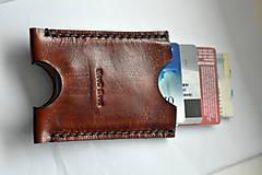 Peňaženky - kožené puzdro na doklady a karty - 11096755_