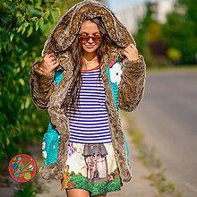 Kabáty - Origo bundoška kožušina, štrikovanec. - 11095599_