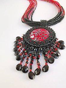Náhrdelníky - Náhrdelník Red&black - 11095854_