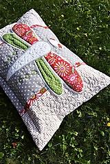 Úžitkový textil - Vážka - vankúš ... - 11097839_