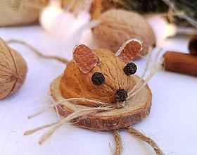 Dekorácie - Vianočné ozdoby myšky - 11095385_
