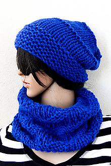 Čiapky - CHiC SeT... FiNe... Mohér/Akryl... Žiarivo modrá - 11098552_