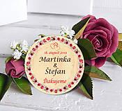 Darčeky pre svadobčanov - Svadobná magnetka - 11099840_