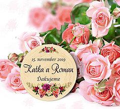 Darčeky pre svadobčanov - Svadobná magnetka - 11099771_