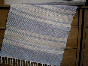 Úžitkový textil - tkany koberec pasik - 11098674_