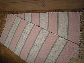 Úžitkový textil - tkany koberec pasikavy - 11098735_