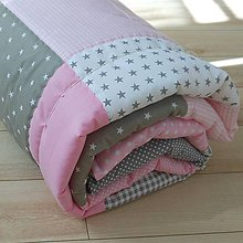 Úžitkový textil - Zástena Šedo-ružová - 11098321_