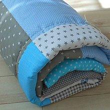 Úžitkový textil - Zástena Šedo-Modrá - 11098325_