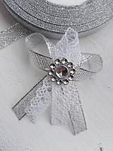 Pierka - Strieborne s čipkou - 11099563_