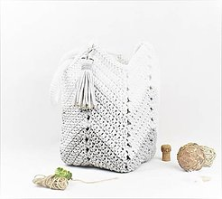 Veľké tašky - Shopperka natur Šedá dúha - 11100073_