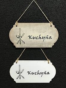 """Dekorácie - Tabuľka """" Kuchyňa """" Príbor - 11099362_"""