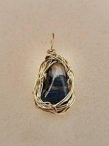 Náhrdelníky - drobný v mosadzi - 11101445_