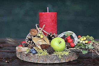 Dekorácie - Jesenný svietnik - 11100277_