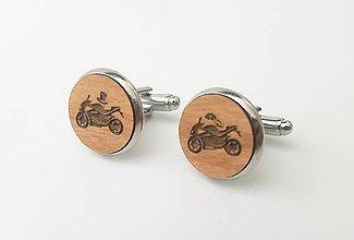 Šperky - Manžetové gombíky - motorka - 11099979_