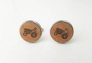 Šperky - Manžetové gombíky - traktor - 11100028_