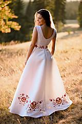 Šaty - Svadobné šaty s výšivkou - 11098571_