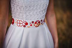 Šaty - Svadobné šaty s výšivkou - 11098573_