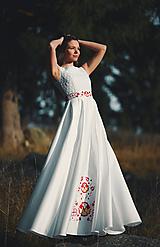 Šaty - Svadobné šaty s výšivkou - 11098582_