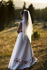 Šaty - Svadobné šaty s výšivkou - 11098583_