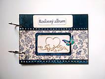 Papiernictvo - Fotoalbum folk rodinný A5 * album - modrotlač - 11099218_