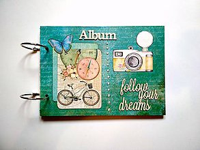 Papiernictvo - Fotoalbum cestovateľský * rodinný album a5 - 11099955_