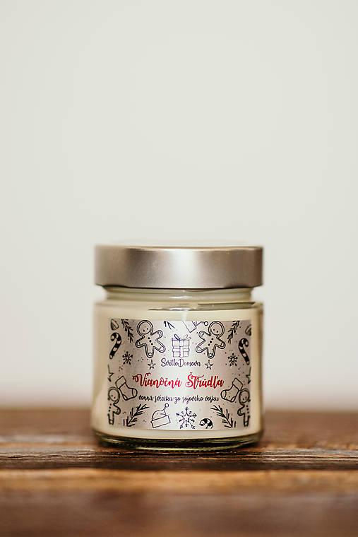 Sviečka zo 100% sójového vosku v skle - Vianočná Štrúdľa