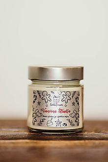 Svietidlá a sviečky - Sviečka zo 100% sójového vosku v skle - Vianočná Štrúdľa - 11099003_