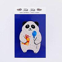 Odznaky/Brošne - Brošnička - Panda (S darčekom) - 11098261_