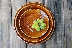 Nádoby - Set 3 tanierov - plytký, hlboký a dezertný - kolekcia Klasy - 11098978_