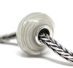 Náramky - Grey stripes pandora /ch-232 - 11098947_
