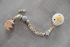 Detské doplnky - Set alebo samostatná retiazka na cumlík a hryzátko s menom olivko (Samostatná retiazka na cumlík (bez hryzátka)) - 11099750_
