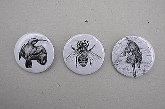 Odznaky/Brošne - Slovenské zvieratká - 11100100_