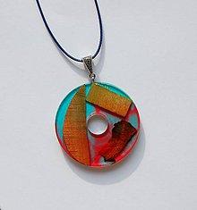 Náhrdelníky - Náhrdelník zo živice - Dúhový kruh - 11100546_