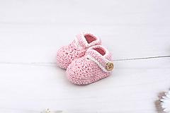 Topánočky - Ružovo-biele papučky EXTRA FINE - 11099841_