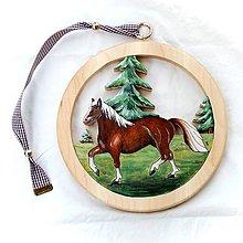 Dekorácie - Drevený Obraz Kôň - 11099541_