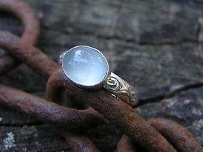 Prstene - Strieborny prsteň Ag925 Akvamarín - 11098919_