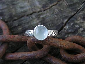 Prstene - Strieborny prsteň Ag925 Akvamarín - 11098930_