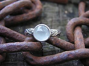 Prstene - Strieborny prsteň Ag925 Akvamarín - 11098935_