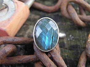 Prstene - Strieborny prsteň Ag925 Labradorit - 11099002_