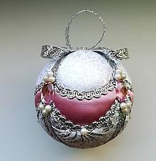 Dekorácie - Vianočná guľa ružová 4 - 11099614_