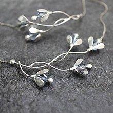 Náhrdelníky - Nezábudky - náhrdelník - 11099473_