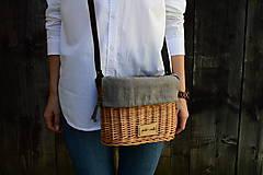 Kabelky - Prútená kabelka na rameno N°4 - 11100348_